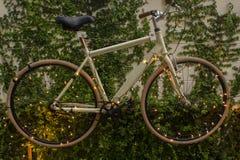 Fahrrad auf Wand Lizenzfreie Stockbilder