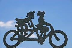 Fahrrad aufgebaut für zwei Lizenzfreie Stockbilder