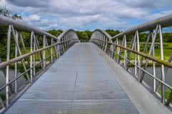 Fahrrad-Brücke Diemen niederländische 2017 Lizenzfreies Stockfoto