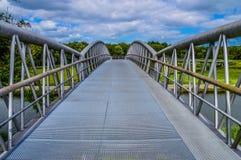 Fahrrad-Brücke Diemen niederländische 2017 Lizenzfreies Stockbild