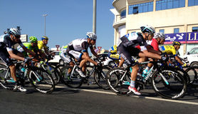 Fahrrad, das Dubai läuft Lizenzfreies Stockbild