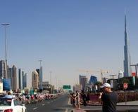 Fahrrad, das Dubai läuft Lizenzfreie Stockbilder