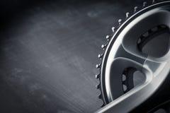 Fahrrad, das Kurbel läuft lizenzfreies stockfoto