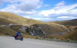 Fahrrad, das in Neuseeland bereist Lizenzfreies Stockfoto