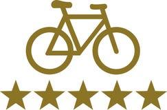 Fahrrad-deluxe fünf Sterne vektor abbildung
