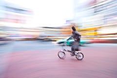 Fahrrad in der Bewegung Lizenzfreies Stockfoto