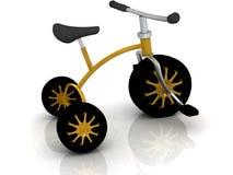 Fahrrad der Kinder mit Automobilrädern Lizenzfreies Stockbild