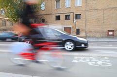Fahrrad in der Stadt Stockbild