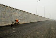 Fahrrad des Reinigungsmittels Stockbilder