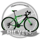 Fahrrad einer bestimmten Art, auf symbolischem Hintergrund Lizenzfreie Stockfotos