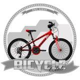 Fahrrad einer bestimmten Art, auf symbolischem Hintergrund Stockfoto