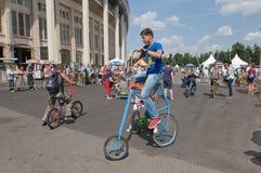 Fahrrad für kleine Leute Lizenzfreies Stockfoto