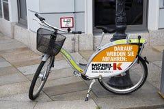 Fahrrad für Miete Stockbilder
