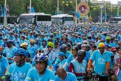 Fahrrad für Mutter Ereignis in Thailand Lizenzfreies Stockbild