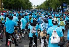 Fahrrad für Mutter Ereignis in Thailand Stockbilder