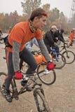 Fahrrad-Fahrkritische Masse lizenzfreie stockfotografie