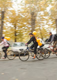 Fahrrad-Fahrkritische Masse Stockfotografie