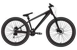 Fahrrad-Fahrrad Schwarzweiss Lizenzfreie Stockbilder