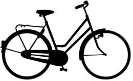 Fahrrad-Fahrradkarikatur Vektor Clipart Lizenzfreies Stockbild