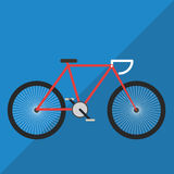 Fahrrad-flacher Farbvektor Lizenzfreie Stockfotos