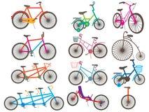Fahrrad-gesetzte Ikone Stockfoto