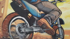 Fahrrad Grafftiti lizenzfreie stockfotos