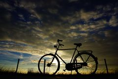 Fahrrad Holland Stockfoto