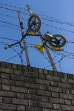 Fahrrad im barbwire Lizenzfreie Stockfotografie