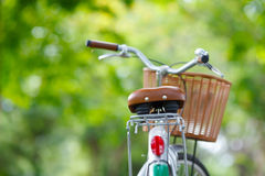 Fahrrad im Park Stockfoto