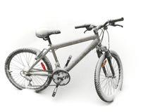 Fahrrad im Schnee stockbild