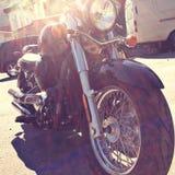 Fahrrad im Sonnenschein Stockbild