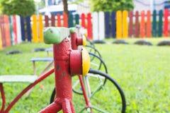 Fahrrad im Spielplatz Stockfotografie