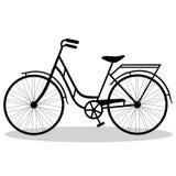Fahrrad lokalisiert auf einem weißen Hintergrund Lizenzfreies Stockbild