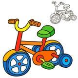 Fahrrad Malbuchseite Lizenzfreie Stockfotografie