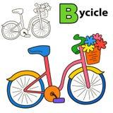 Fahrrad Malbuchseite Lizenzfreies Stockbild