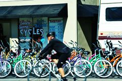 Fahrrad-Miete Stockfoto