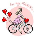 Fahrrad mit Ballonen Lizenzfreies Stockfoto