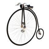 Fahrrad mit einem großen Vorderrad Stockbilder
