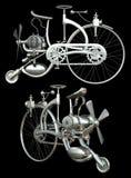 Fahrrad mit Motor stockfotografie