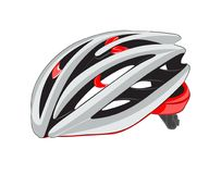 Fahrrad- oder Fahrradsturzhelmillustration, lokalisiert Lizenzfreie Stockfotos