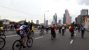 Fahrrad-Parade September 2015 stock video
