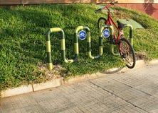 Fahrrad-Parken Stockbilder