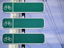 Fahrrad-Pfad-Schauzeichen Stockbilder