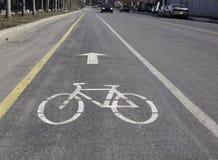Fahrrad-Pfad-Schauzeichen Stockfotos