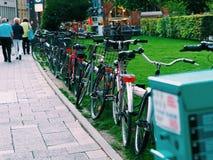 Fahrrad-Reitstadt Stockbild