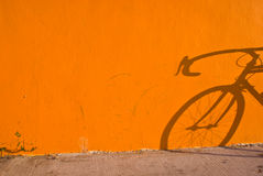 Fahrrad-Schatten Stockfotografie