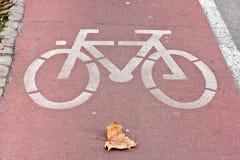 Fahrrad-Straße Stockbild