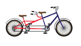 Fahrrad - Tandem vektor abbildung