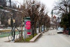Fahrrad und Freiheitsleben in Salzburg Lizenzfreie Stockfotografie