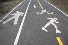 Fahrrad und Fußgängerweg oder Greenway entlang Gurt-Allee in Brooklyn Stockfotos